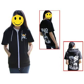 Luffy Short Sleeve Hoodie One Piece