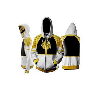 White Ranger Hoodie Power Rangers