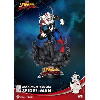 Figura Maximum Venom Spiderman Marvel Comics D-Stage