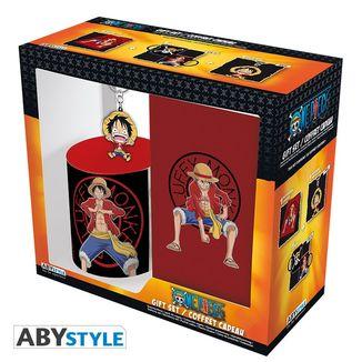 Pack Regalo Taza + Libreta + Llavero Luffy One Piece