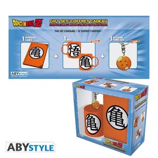 Gift Pack Mug + Keychain + Notebook Kanji Kame Dragon Ball Z