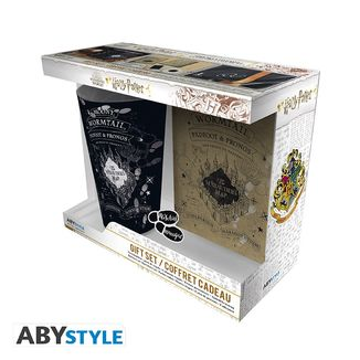 Gift Pack Glass + Pin+ Prowler Map Harry Potter