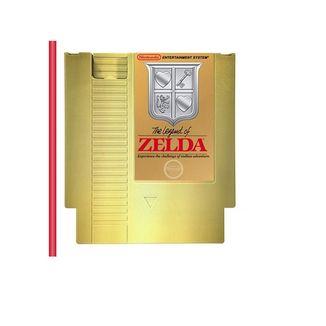 Golden NES Cartridge Beverage Canteen The Legend of Zelda