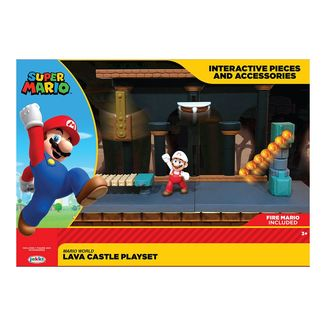 Lava Castle Figure World of Nintendo Super Mario