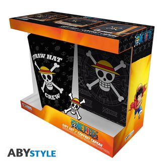 Pack Vaso Grande + Pin + Libreta Skull One Piece