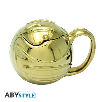 Taza 3D Snitch Dorada Harry Potter