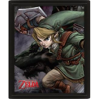 Legend of Zelda Twilight Princess Framed 3D Lenticular Poster