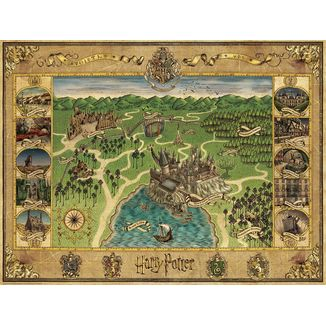 Map Hogwarts Puzzle 1500 Pieces Harry Potter