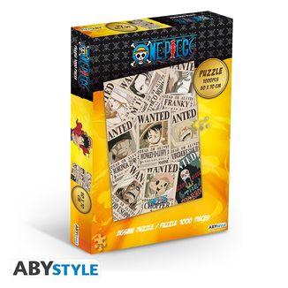 Puzzle Carteles Wanted One Piece 1000 Piezas