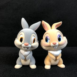 Tambor & Lady Bunny Figure Fluffy Puffy Disney Characters