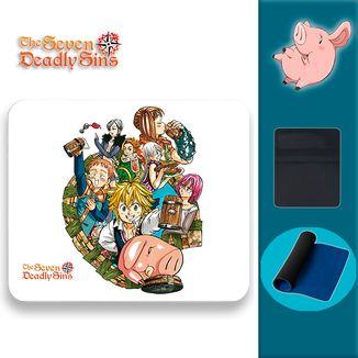 Mouse Pad The Seven Deadly Sins - Group