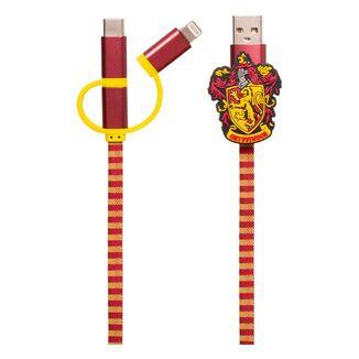 Cable de Carga Gryffindor Bufanda Harry Potter 3in1