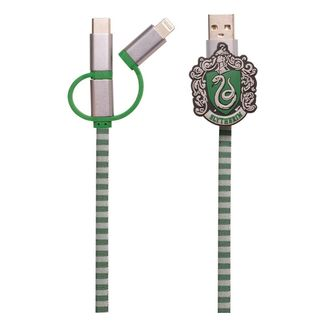 Slytherin Scarf Charging Cable Harry Potter 3in1