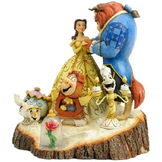 Figure Beauty And The Beast Tree Trunk Disney Traditions