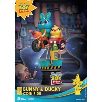 Bunny & Ducky Coin Ride Figure Toy Story 4 Disney Series Diorama D-Stage