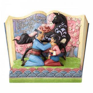 Figura Mulan Story Book Mulan Jim Shore Disney Traditions