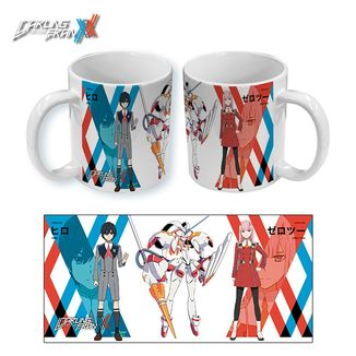 Darling in the Franxx Taza Hiro and Zero Two