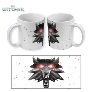 The Witcher 3 Mug Wolf in White