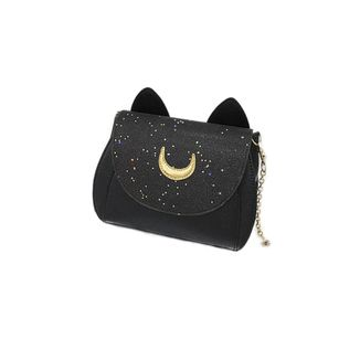 Bolso Negro Glitter Cat