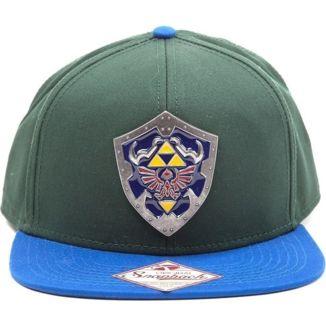 Bioworld Zelda Metal Hylian Shield Green Snapback Cap