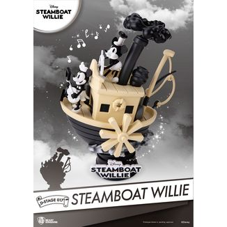 Figura Mickey & Minnie Diorama Steamboat Willie D-Stage Disney