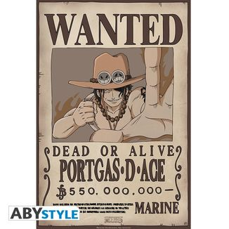 Portgas D Ace Wanted Poster One Piece 52 x 35 cms