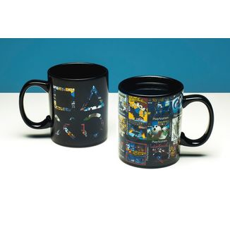 Taza térmica PS One Retro Games