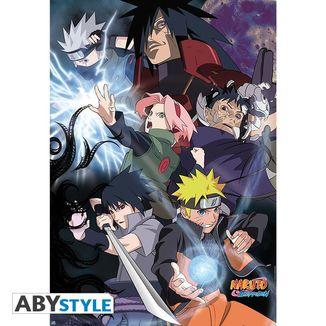 Naruto Shippuden Group Ninja War Poster 98 x 68 cms