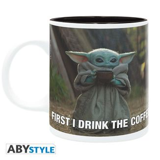 Taza The Mandalorian Grogu Meme Star Wars 320ml