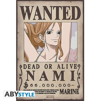 Poster Nami Wanted One Piece 52 x 35 cms