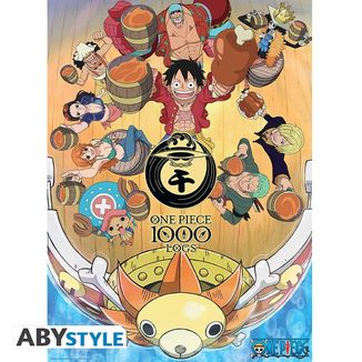 Poster Celebración Grupal One Piece 52 x 38 cms