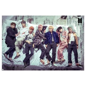 BTS group bed poster 91.5 x 61 cms
