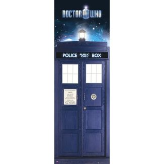 Tardis Doctor Who Door Poster 53 x 158 cms