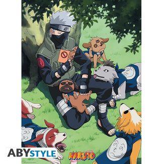 Poster Kakashi y Perros Naruto 52 x 38 cms