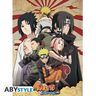 Poster Naruto Shippuden Group2 52 x 38 cms