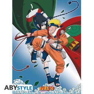 Poster Naruto vs Sasuke Naruto 52 x 38 cms