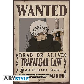 One Piece Poster Trafalgar Law Wanted 52 x 35 cms