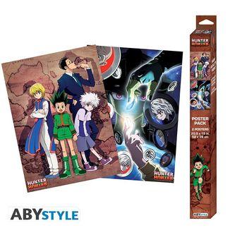 Poster Protagonistas y Meruem Hormigas Quimera set Hunter x Hunter 52 x 38 cms