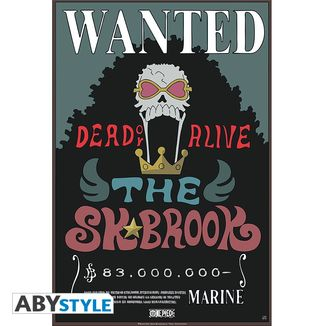 Poster Brook Wanted One Piece 52 x 35 cms
