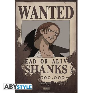 Poster Shanks Wanted One Piece 52 x 35 cms