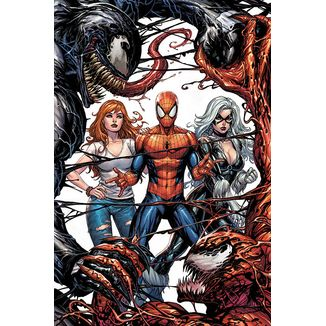 Venom & Carnage Fight Poster Marvel Comics 92 x 61 cms