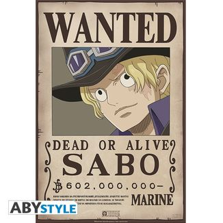 Poster Wanted Sabo One Piece 52 x 35 cms