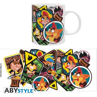 Crash Stickers Mug Crash Bandicoot 320 ml