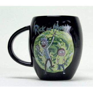 Taza Oval Portal Rick & Morty