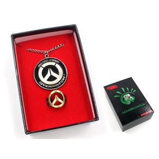 Overwatch Logo Pendant and Ring Set