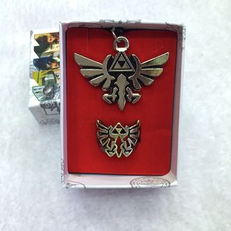 Set The Legend of Zelda Triforce Necklace and Ring