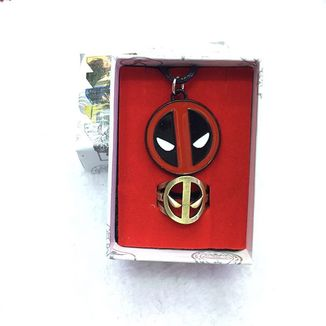 Set Colgante y Anillo Deadpool