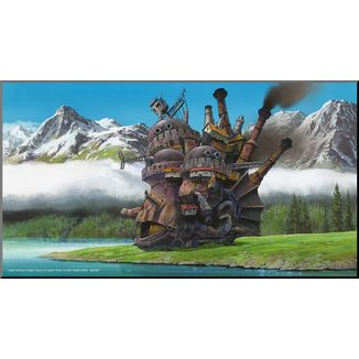 Howl's Moving Castle Wooden Wall Art Studio Ghibli
